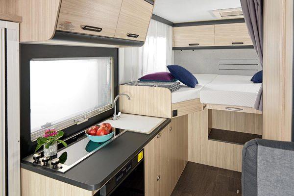 Küche und hinterer Bereich