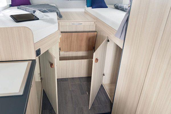 Stauraum unter Betten